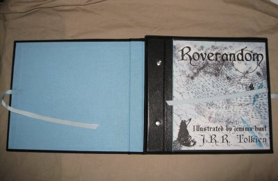 The open box with the book inside